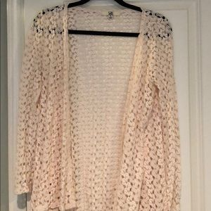 Tops - Lace cardigan size small.